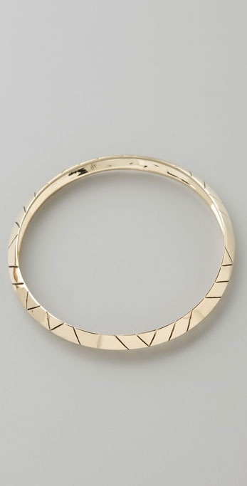 House Of Harlow 1960 Gold Thick Stacking Bangle