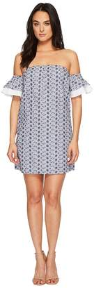 CeCe Rosanna - Off the Shoulder Embroidered Dress Women's Dress