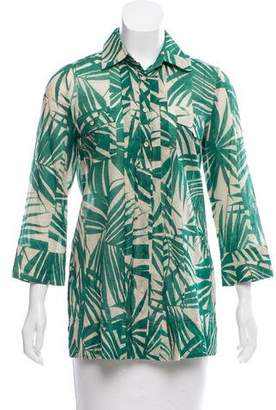 Max Mara Weekend Pointed Collar Button-Up Top