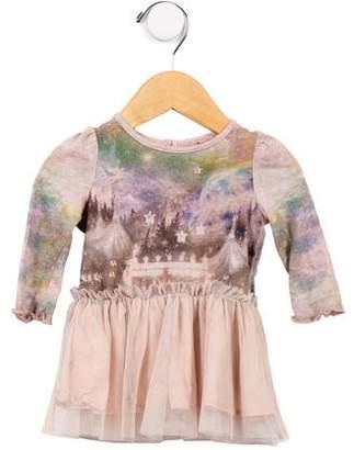 Stella McCartney Girls' Printed Long Sleeve Dress