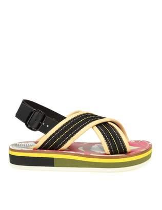 Marni Sandal With Multicolor Cross Band