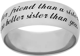 """Sterling Silver """"Sister"""" Ring"""