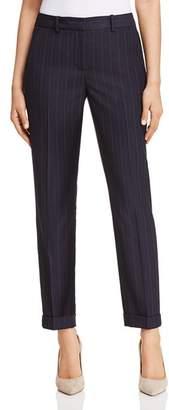 T Tahari Ashley Striped Flat-Front Pants