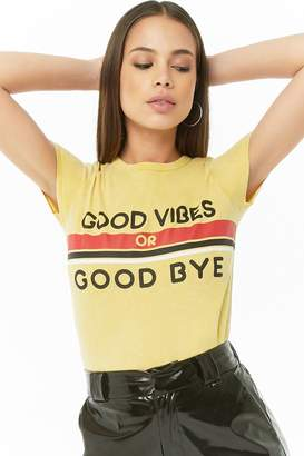 Forever 21 Good Vibes Or Good Bye Graphic Tee