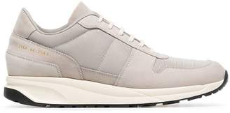 Common Projects Grey Track Vintage stacked leather sneakers