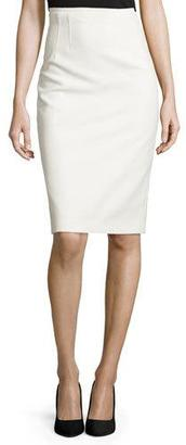 Elie Tahari Beatrice Pencil Skirt, White $268 thestylecure.com