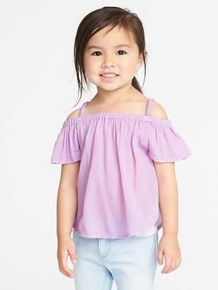 Old Navy Off-the-Shoulder Crinkle-Gauze Top for Toddler Girls