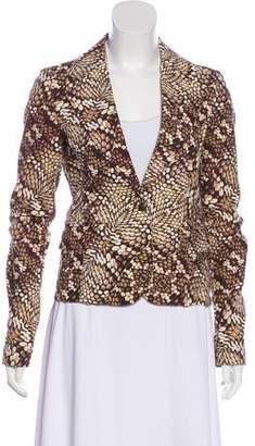 Just Cavalli Printed Long Sleeve Blazer