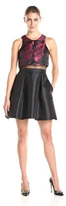 Betsy & Adam Women's Sleeveless Faux 2 Piece Fit and Flare Dress $27.51 thestylecure.com