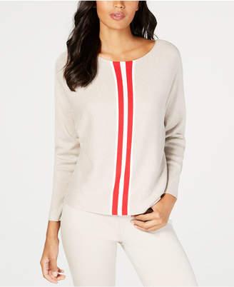 INC International Concepts I.n.c. Petite Varsity Stripe Sweater, Created for Macy's