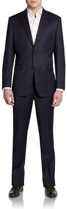 Saks Fifth Avenue Made In Italy Slim-Fit Solid Wool Suit