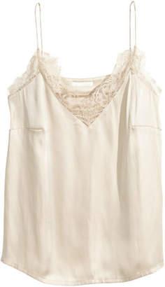 H&M Satin Camisole Top - Beige