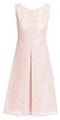 Akris Women's Sleeveless Square Ajouré A-Line Dress - Blush - Size 10