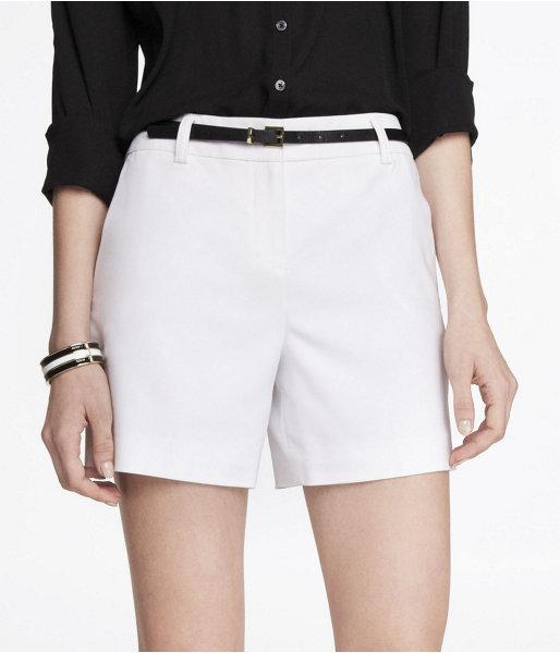 Express 4 1/2 Inch High Waist Belted Shorts