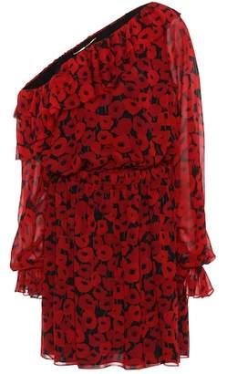 Saint Laurent Floral-printed silk dress