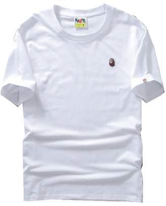 A Bathing Ape M2T Men Girls Kids Short Sleeve Head Round Collar T-shirt