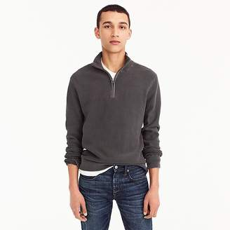 J.Crew Pigment-dyed cotton half-zip sweater