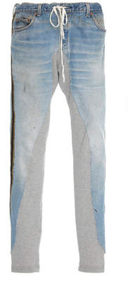 Greg Lauren Paneled Skinny Jeans
