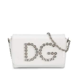 Dolce & Gabbana logo embellished shoulder bag