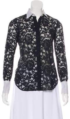 Valentino Lace Long Sleeve Top