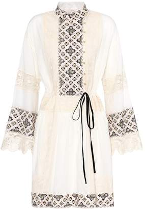 Tory Burch Carlotta lace-trimmed cotton dress