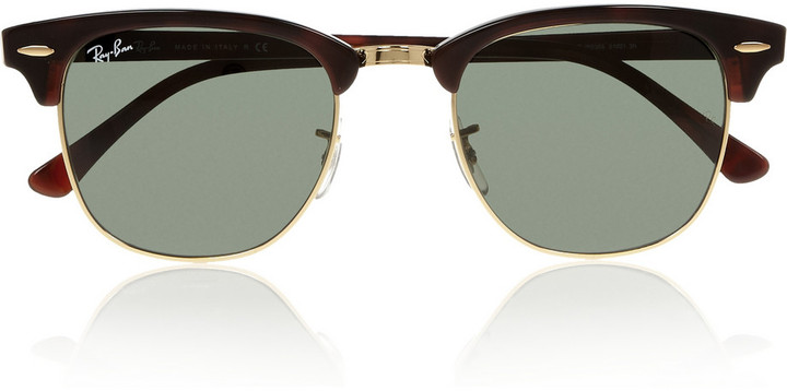 Ray-Ban Clubmaster half-frame acetate sunglasses