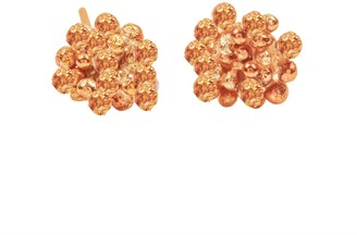 Lily Flo Jewellery Rock Chic Flower Stud Earring In Solid Rose Gold