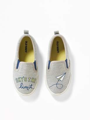 """Old Navy """"Sky's the Limit"""" Graphic Jersey Slip-Ons for Toddler Boys & Baby"""
