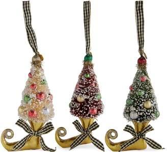 Mackenzie Childs Tree Elf Boot Decorations (Set of 3)