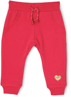 Sprout NEW Girls Essential Trackpant - Raspberry / Foil Heart