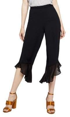 BCBGeneration Mixed-Media Cropped Pants