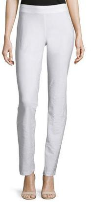 Eileen Fisher Washable-Crepe Boot-Cut Pants, White $168 thestylecure.com