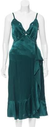Thakoon Grommet-Accented Silk Dress