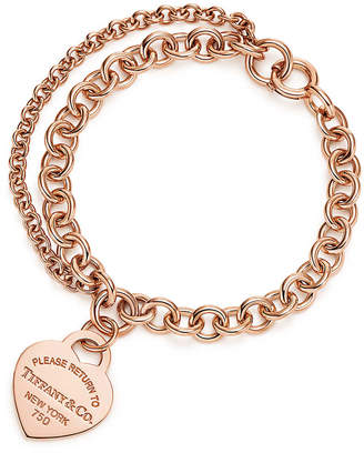 Tiffany & Co. Return to TiffanyTM double chain heart tag bracelet