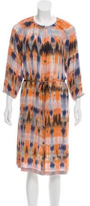 Raquel Allegra Y816845 Tie-Die Midi Dress w/ Tags