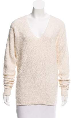 Derek Lam Bouclé V-Neck Sweater