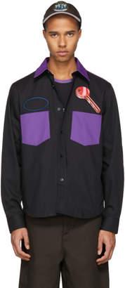 Acne Studios Black and Purple Heart Key Seattle Shirt