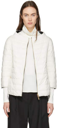 Herno Reversible White and Black Three-Quarter Sleeve Jacket