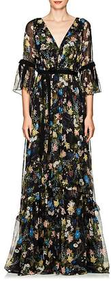 Erdem Women's Petunia Floral Silk Gown
