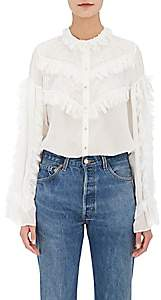 Koche Women's Lace-Trimmed Silk Blouse-White