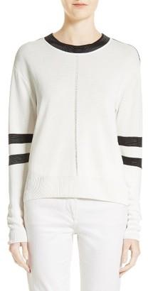 Women's Belstaff Sheri Moto Stitch Sweater $550 thestylecure.com