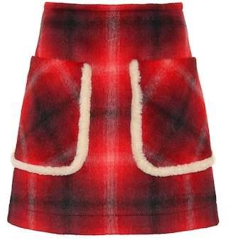 N°21 Plaid miniskirt