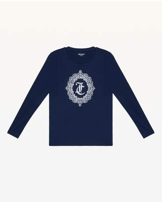 Juicy Couture Ornate Cameo Long Sleeve Tee
