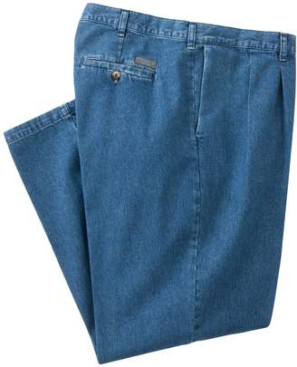 Lee Big & Tall Stain Resist Classic-Fit Pleated Denim Pants