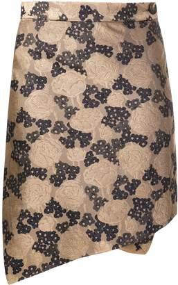 Vivienne Westwood floral asymmetric mini skirt