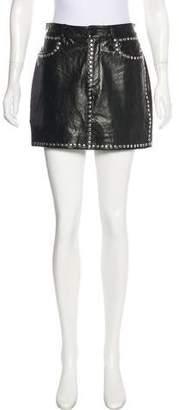 Frame Leather Mini Skirt w/ Tags