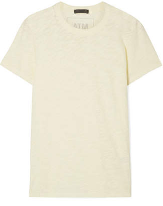 ATM Anthony Thomas Melillo Schoolboy Slub Cotton-jersey T-shirt - Pastel yellow