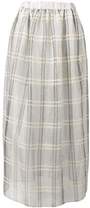 Emporio Armani sequinned check full skirt