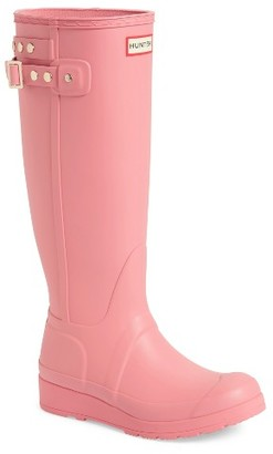 Women's Hunter Original Tall Studded Wedge Rain Boot $175 thestylecure.com
