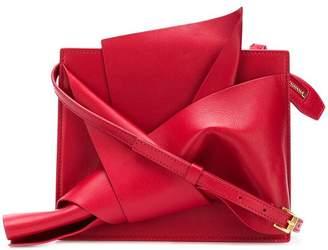 No.21 abstract bow cross-body bag
